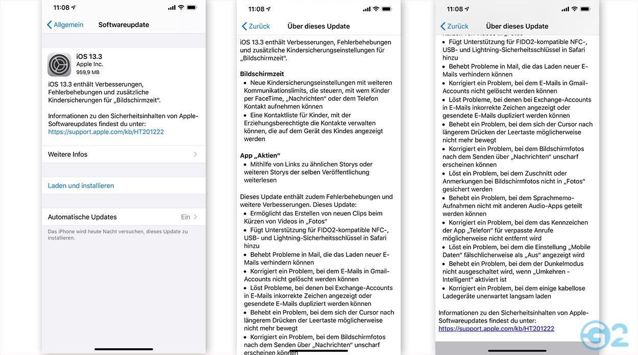 iOS 13.3 Update