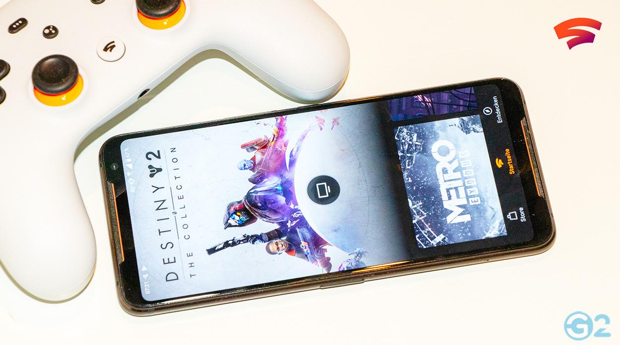 Google Stadia Asus ROG Phone 2