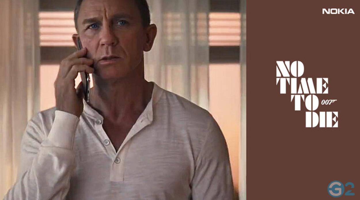 JAmes Bond mit dem Nokia 8.2 5G