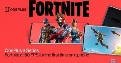 OnePlus 8 mit 90-Hz-Unterstützung bei Fortnite