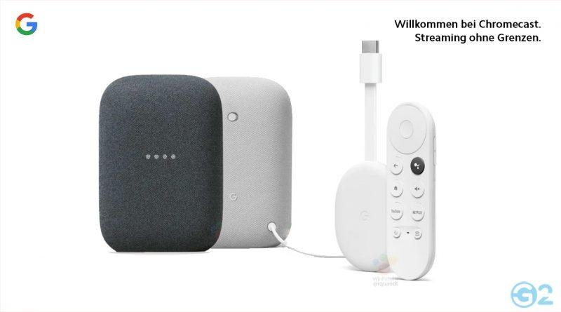 Google Chromecast 4 und Nest-Lautsprecher