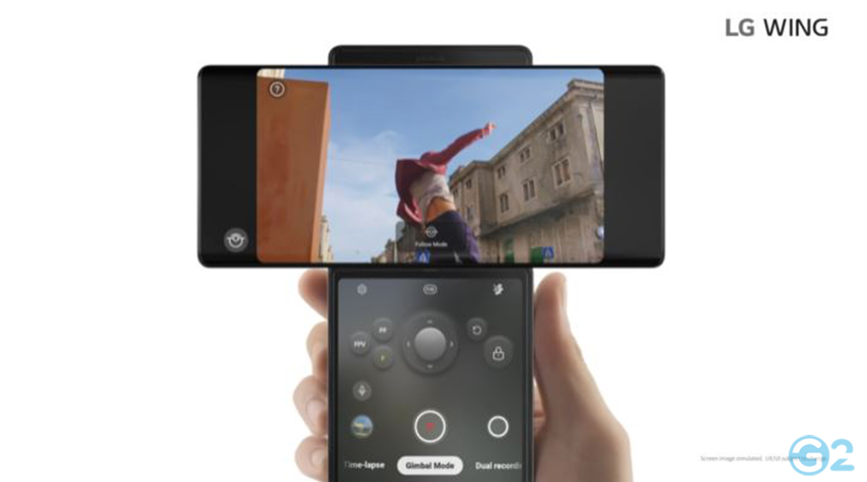 LG Wing als Gimbal