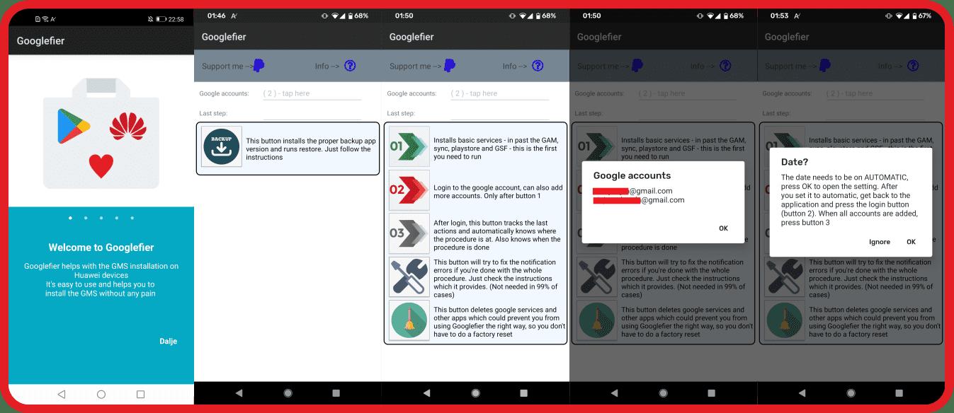 Googlefier für Huawei-Smartphones