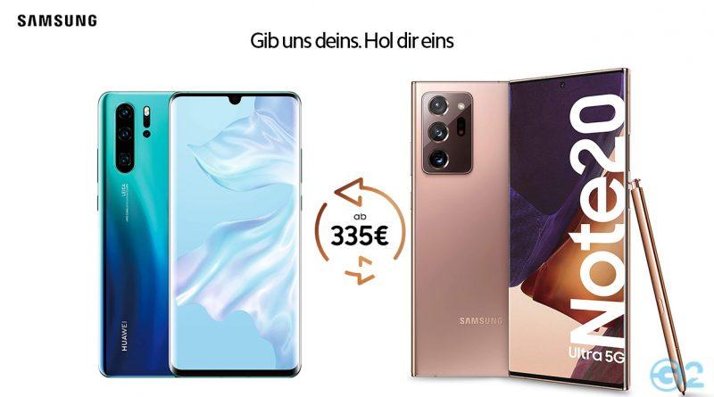 Samsung wirbt um Huawei-Kunden