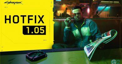 Cyberpunk 2077 liefert Hotfix 1.05