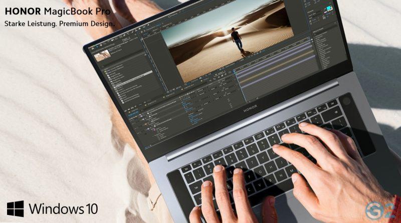 Honor MagicBook Pro mit Windows 10 Dank Microsoft-Lizenz