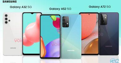 Samsung Galaxy A72, A52 und A32 5G