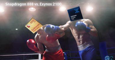 Samsung Exynos 2100 vs. Snapdragon 888 von Qualcomm