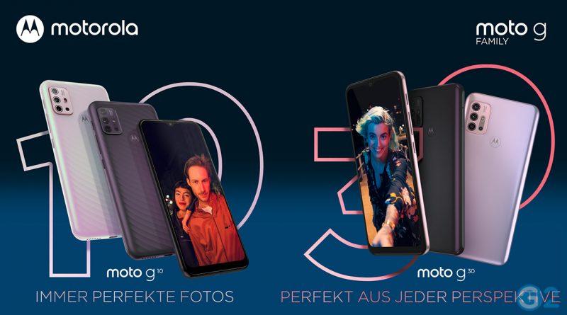 Motorola Moto G10 und G30