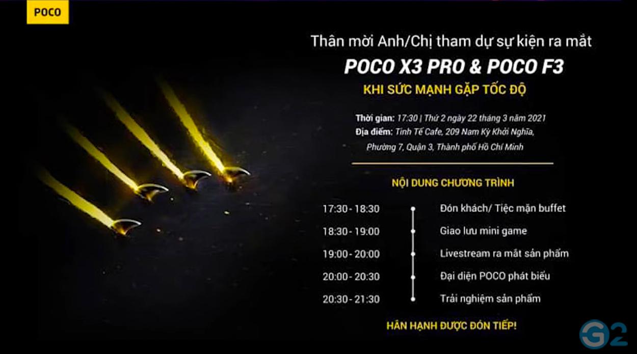 Poco X3 Pro und Poco F3 Launch-Event