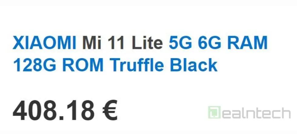 Xiaomi Mi 11 Lite Preisleak