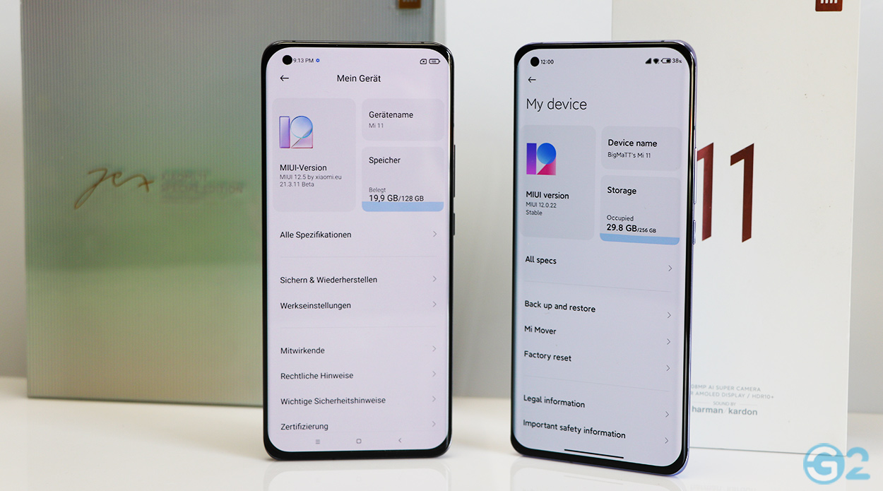 Xiaomi Mi 11 mit MIUI 12.5