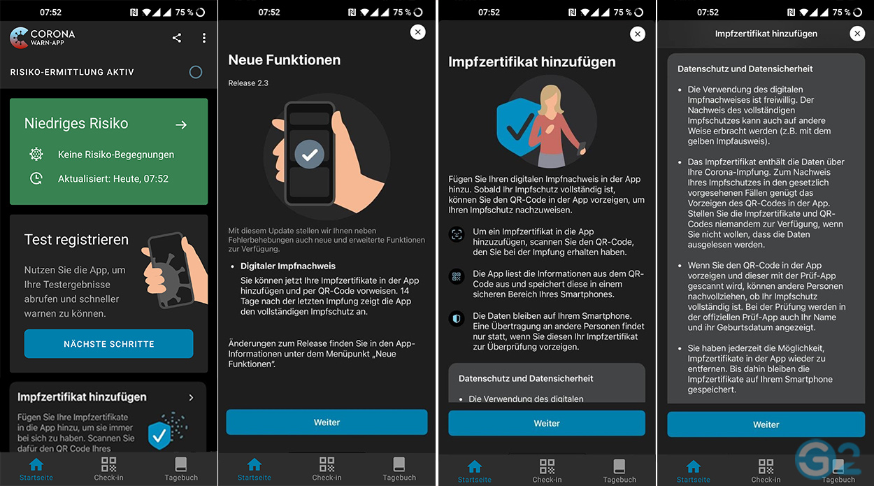 Digitaler Impfpass in der Corona-Warn-App