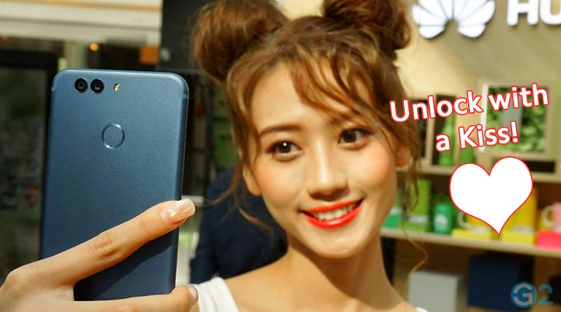 Huawei-Smartphones unlock with a Kiss