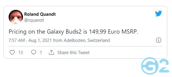 Preis Samsung Galaxy Buds 2