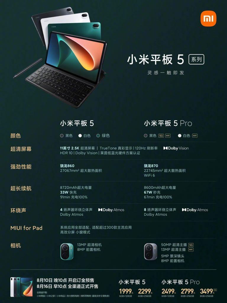 Xiaomi Mi Pad 5 (Pro)