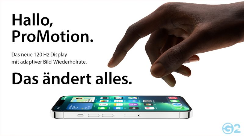 Apple ProMotion auf dem iPhone 13 Pro