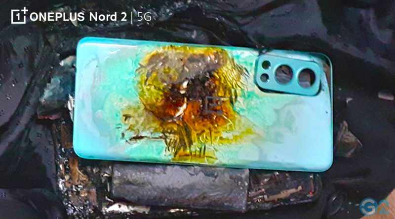 OnePlus Nord 2 on fire