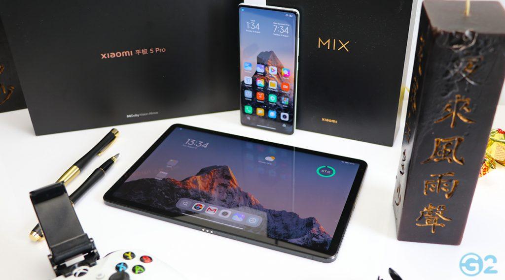 Xiaomi Pad 5 Pro und das MIX 4