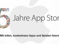 Apple feiert 5 Jahre App Store mit gratis iOS Apps & Spielen