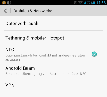 NFC Huawei Ascend Mate