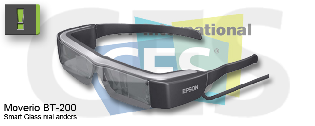 [CES 2014] Epson Moverio BT-200 Smart Glass