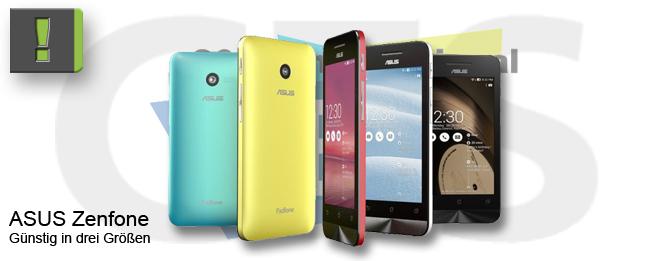 [CES 2014] ASUS Zenfone: Günstig-Smartphone in drei Größen