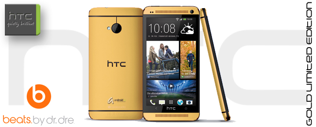 HTC One Beats by Dre Limited Gold Edition