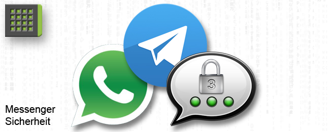 WhatsApp, Telegram und Threema