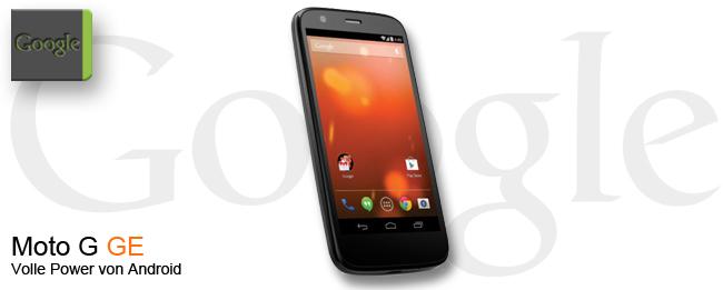 Motorola Moto G: Jetzt auch als Google Edition