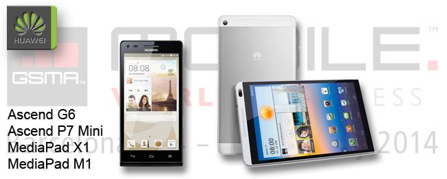 [MWC 2014] Huawei stellt neue Smartphones und Tablets vor